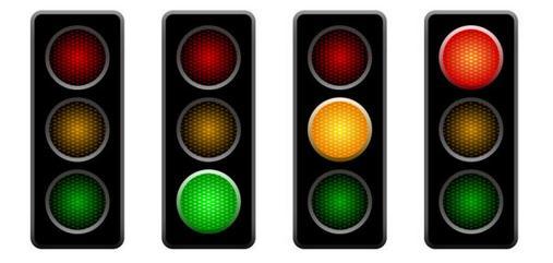 道路通行规则(通行信号灯,红,绿,黄灯的含义)-南京